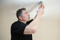 Replacing a ceiling light fitting
